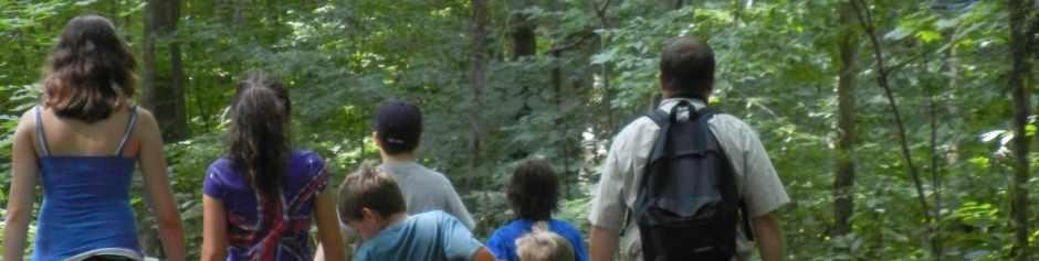 Family hiking in Eureka Springs, Arkansas